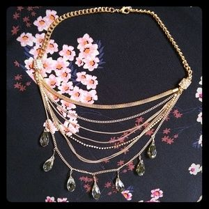 Jewelry - Multi strand gold necklace NEW